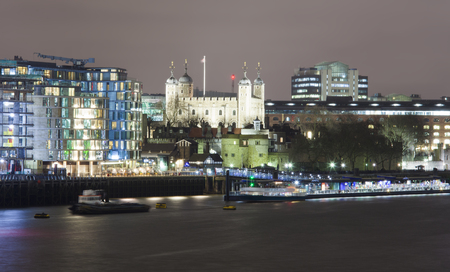 the Tower of London at night scene
