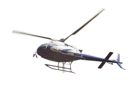 operational: helicopter isolated on white background Stock Photo