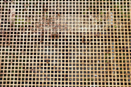 grille: old metal grill with rust
