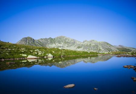 glacier lake in Retezat mountain landscape, Romania