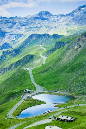 glacier lake in Grossglockner pass, Austria. Summer view Stock Photo