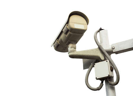 surveillance camera for video isolated on white background