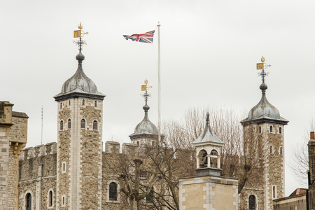 the Tower of London in London city, UK Stock Photo