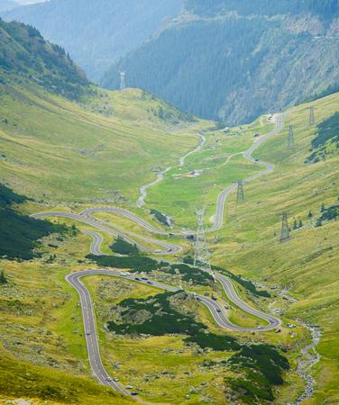 Transfagarasan highway in Romania, Fagaras mountain