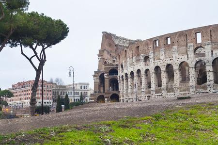 Colosseum of Rome, Italy. exterior view Standard-Bild
