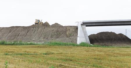 unfinished bridge under construction