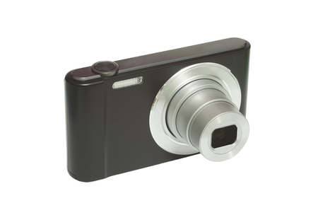 compact digital photo camera isolated on white background