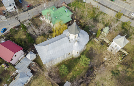 aerial view of Saint Andrew (Sf Andrei) church in Iasi city, Romania Stock Photo