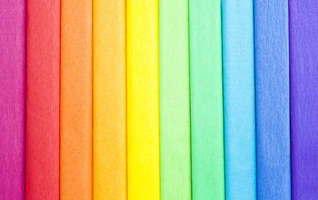 crepe rainbow color paper