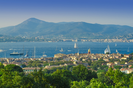 summer landscape of Saint Tropez cityscape, France
