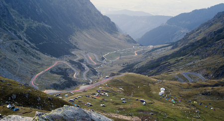 Transfagarasan mountain highway or road in Romania Stock Photo