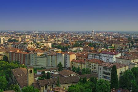 cityscape of Bergamo, Italy view Archivio Fotografico