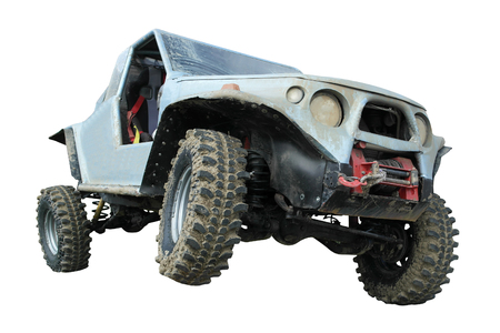 off road car isolated on white background