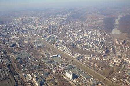 Iasi city, Romania. view from airplane