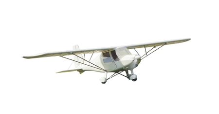 small vintage airplane isolated on white background