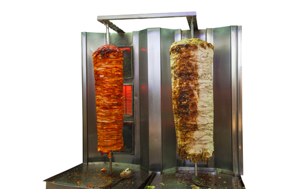 arabic shawarma meat isolated on white background