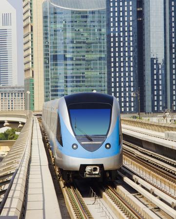 modern metro in Dubai city, United Arab Emirates