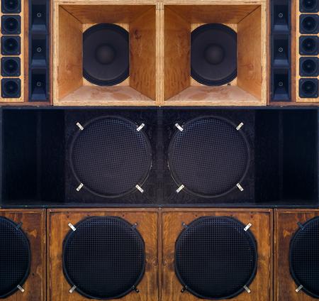 big set of loudspeaker for a concert or music show studio Reklamní fotografie