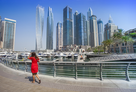 Dubai Marina city in United Arab Emirates. travel concept Reklamní fotografie