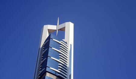 DUBAI, UAE - SEPTEMBER 26 2018: Chelsea Tower hotel in Dubai city
