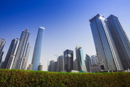 modern buildings in Dubai city, United Arab Emirates 版權商用圖片