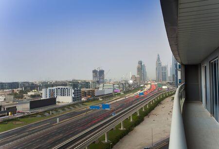 Dubai cityscape, aerial view from tower Zdjęcie Seryjne