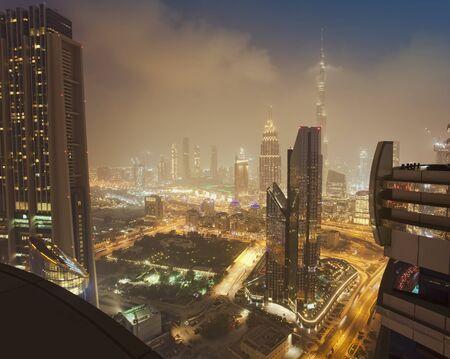 Dubai city at night, United Arab Emirates