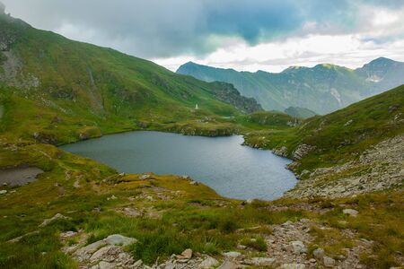 lake Capra in Fagaras mountains, Romania