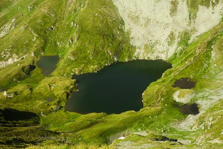 Capra lake in Fagaras mountains, Romania