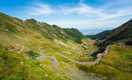 Transfagarasan mountain road in Romania. Fagaras