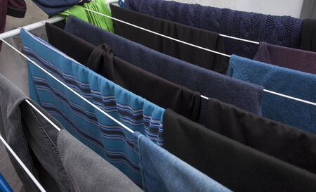 laundry clothes put for drying 版權商用圖片
