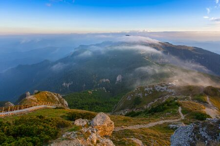 Ceahlau mountain landscape in Romania