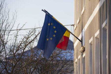 European Union flag on a building