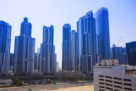 modern buildings in Dubai city, United Arab Emirates