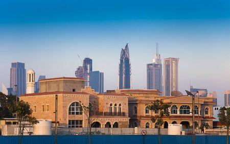 old and new city of Dubai, United Arab Emirates Imagens
