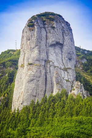 big rock in Ceahlau mountain. Panaghia, Romania