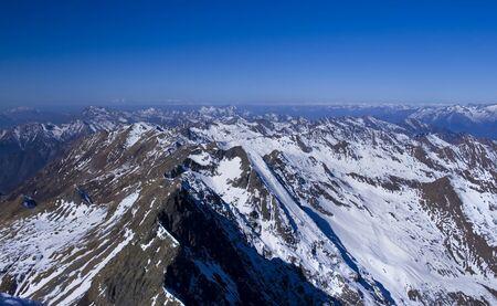 Alps of Italy view from Diaolo di Tenda peak