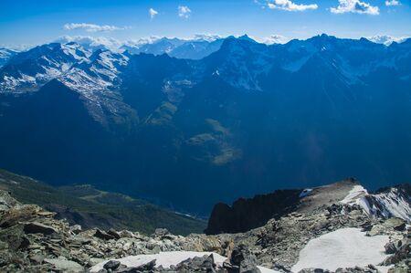 Alps of Italy view from Grivola peak