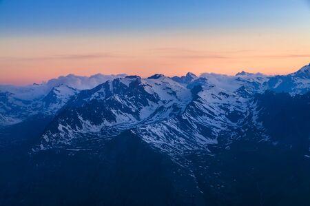 Parc national de Gan Paradiso, sommets des montagnes en Italie
