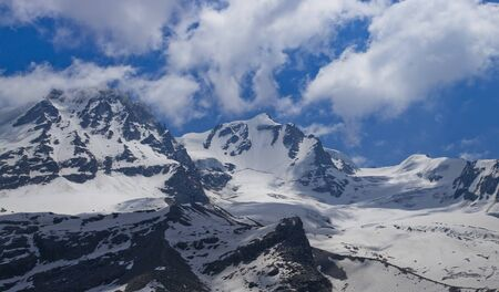 Gran Paradiso peak and National Park in Italy, Aosta Valley. summer scene Reklamní fotografie