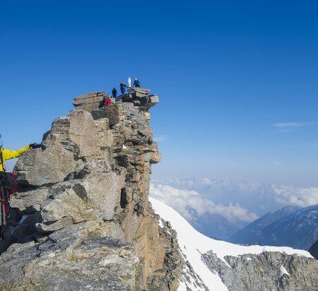 Gran Paradiso peak or summit. 4061m altitude, Italy Alps mountains