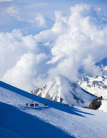 Alps mountain peaks in Italy. Gran Paradiso, Aosta Valley Reklamní fotografie