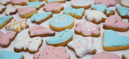 sweet home made cookies for holidays desert Stock Photo