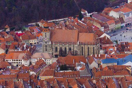 The Black Church in Brasov old city, Transylvania. Romania
