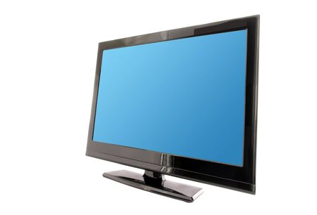 tv or monitor with blue screen isolated