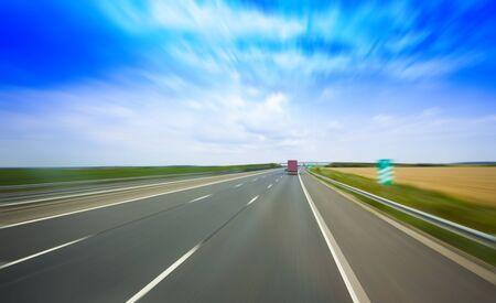高速高速道路の抽象的なぼかし。モーション ブラー 画像