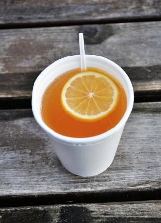 grog: Grog - winter hot drink with lemon Stock Photo