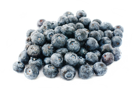 backgound: Fresh tasty blueberries isolated on white backgound