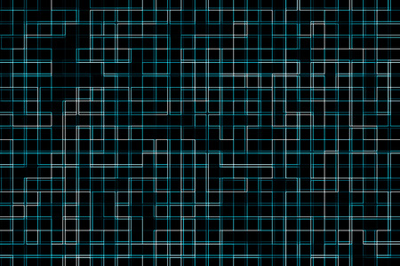 technic: Abstract technic blue square background with perspective