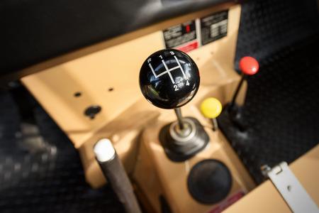 Stick Shift - Manual Transmission Drive. Vehicle Interior. Four Speed Car Transmission. Stock Photo
